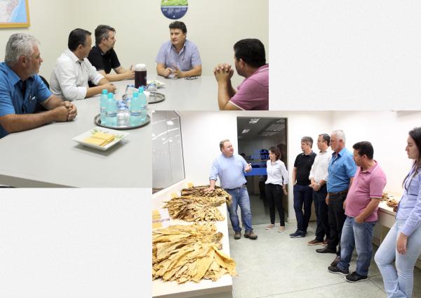 [Vereadores de Quitandinha visitam Souza Cruz e Universal em Rio Negro]