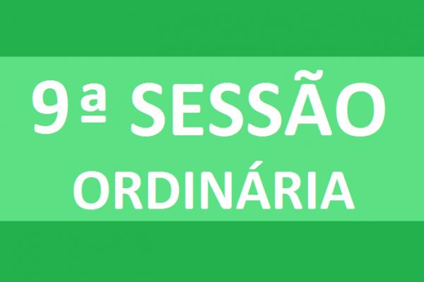 PAUTA 9ª SESSÃO ORDINÁRIA