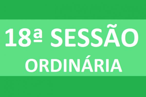 PAUTA 18ª SESSÃO ORDINÁRIA