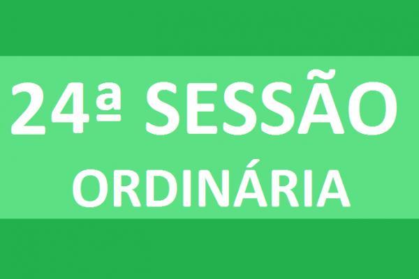 PAUTA 24ª SESSÃO ORDINÁRIA