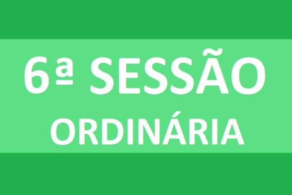 PAUTA 06ª SESSÃO ORDINÁRIA DE 2020