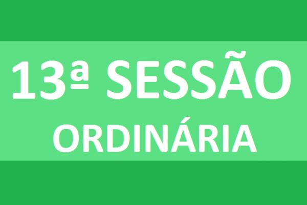 PAUTA 13ª SESSÃO ORDINÁRIA DE 2020