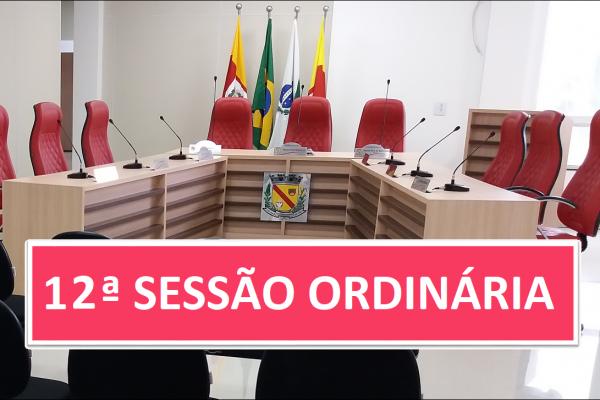 PAUTA 12ª SESSÃO ORDINÁRIA DE 2021